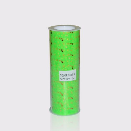 Green Sequin  Tulle 10 Y